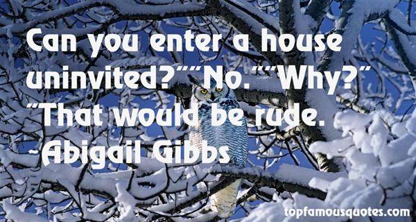 Abigail Gibbs Quotes
