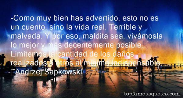 Andrzej Sapkowski Quotes