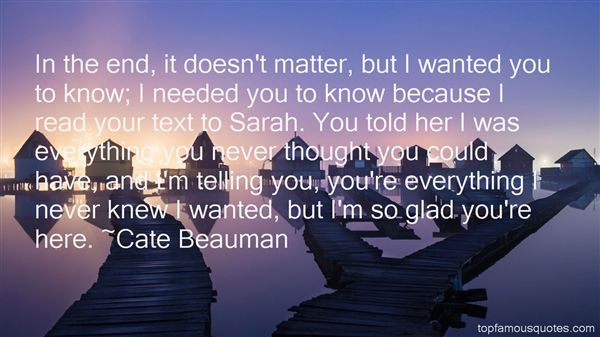 Cate Beauman Quotes