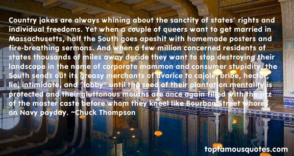Chuck Thompson Quotes