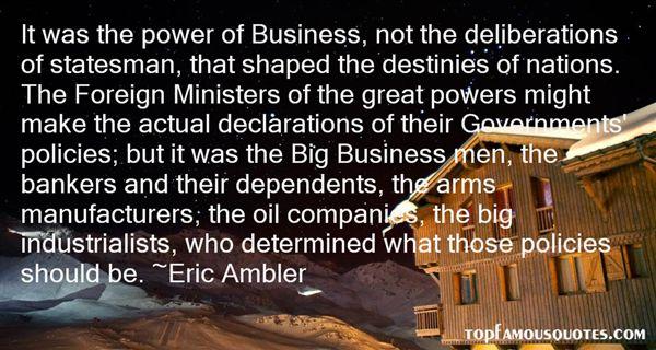 Eric Ambler Quotes