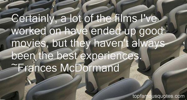 Frances McDormand Quotes