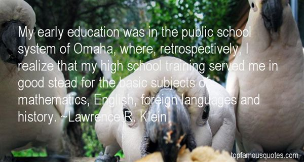 Lawrence R. Klein Quotes