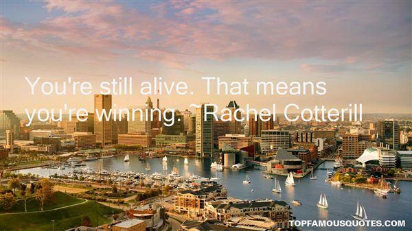 Rachel Cotterill Quotes