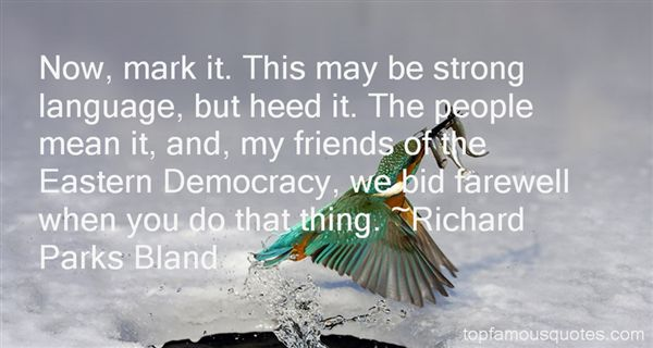 Richard Parks Bland Quotes