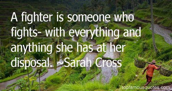 Sarah Cross Quotes