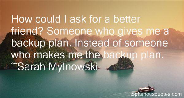 Sarah Mylnowski Quotes