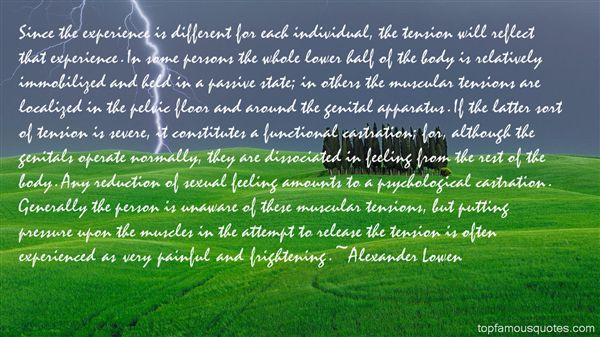 Alexander Lowen Quotes
