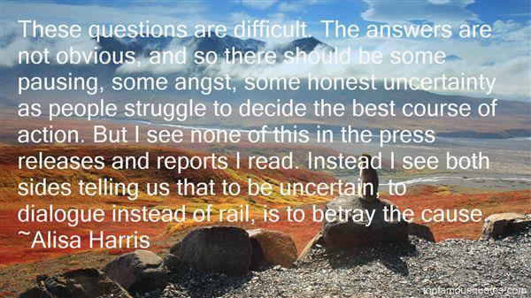 Alisa Harris Quotes