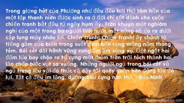 B?o Ninh Quotes