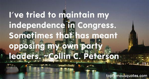 Collin C. Peterson Quotes