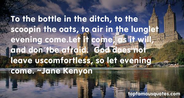 Jane Kenyon Quotes