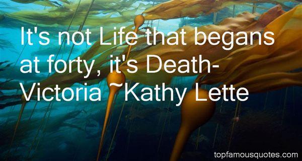 Kathy Lette Quotes