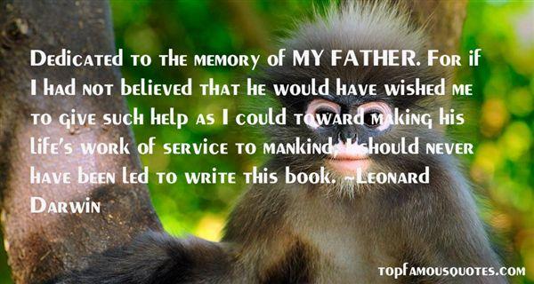 Leonard Darwin Quotes