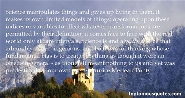 Maurice Merleau Ponty Quotes