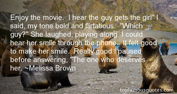 Melissa Brown Quotes