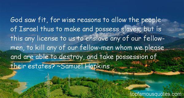 Samuel Hopkins Quotes