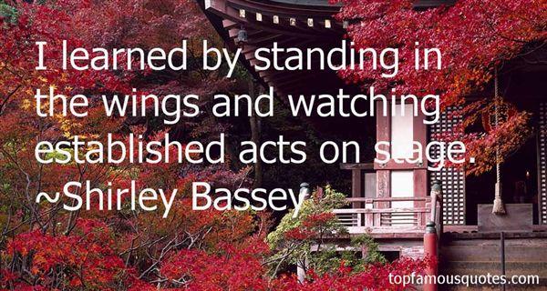 Shirley Bassey Quotes