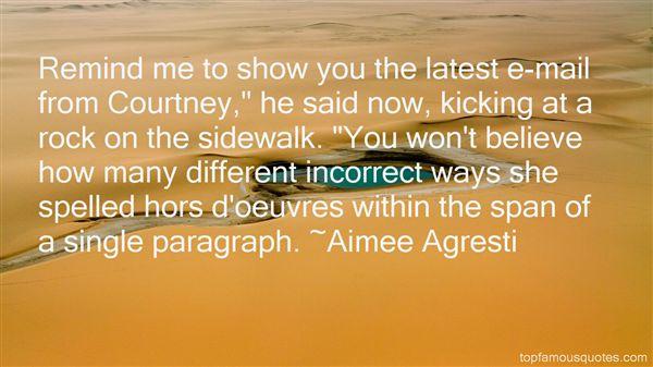 Aimee Agresti Quotes
