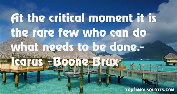Boone Brux Quotes