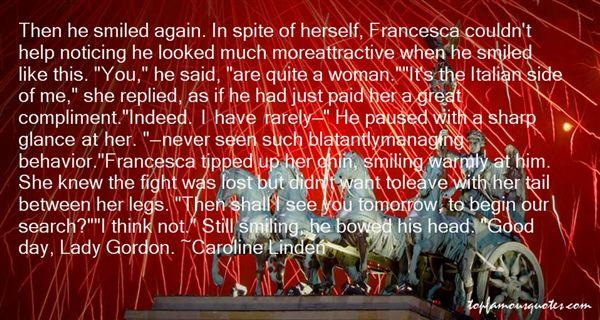 Caroline Linden Quotes