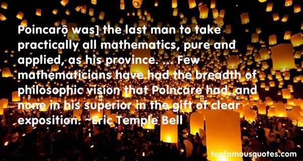 Eric Temple Bell Quotes
