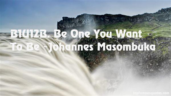 Johannes Masombuka Quotes