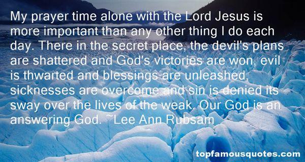 Lee Ann Rubsam Quotes