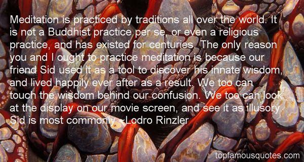 Lodro Rinzler Quotes