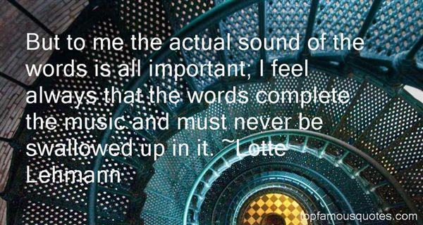 Lotte Lehmann Quotes