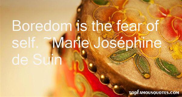 Marie Joséphine De Suin Quotes