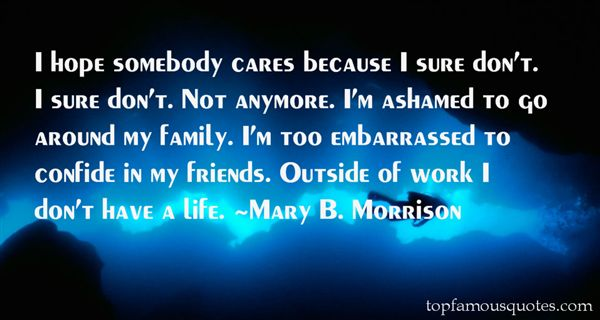 Mary B. Morrison Quotes