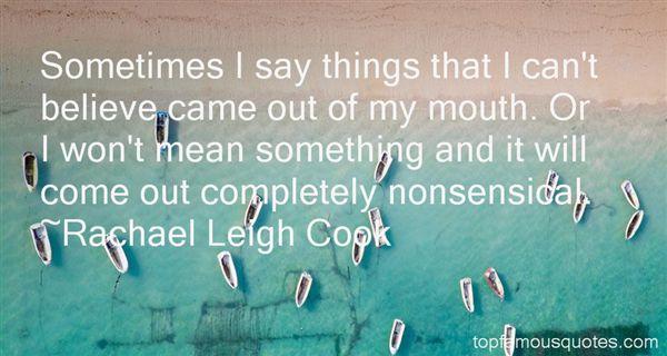 Rachael Leigh Cook Quotes