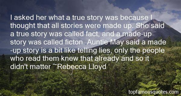 Rebecca Lloyd Quotes