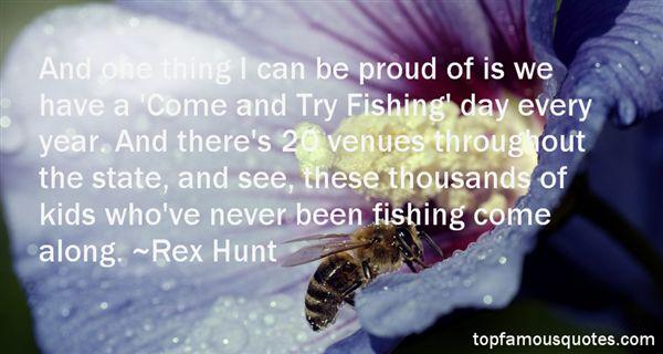 Rex Hunt Quotes