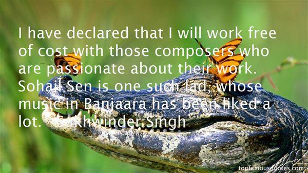 Sukhwinder Singh Quotes
