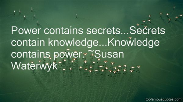 Susan Waterwyk Quotes