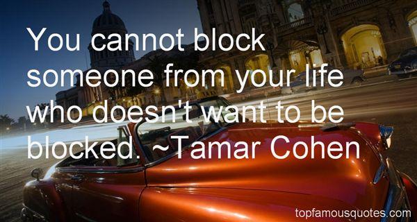 Tamar Cohen Quotes