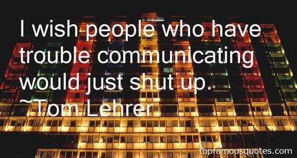 Tom Lehrer Quotes
