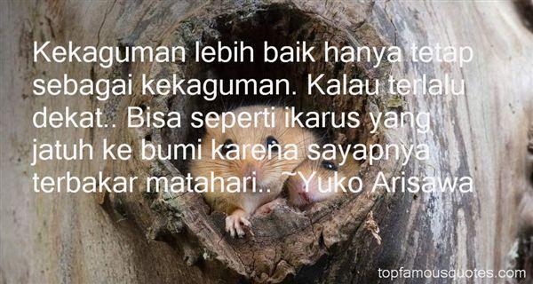 Yuko Arisawa Quotes