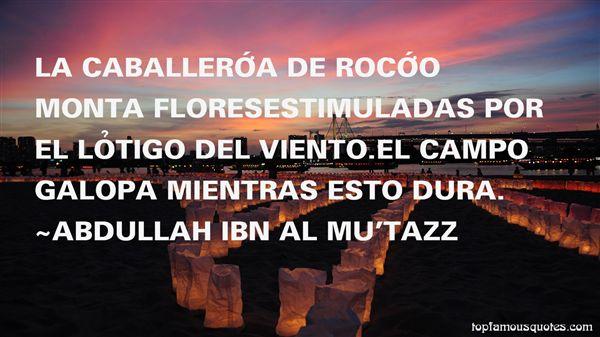 Abdullah Ibn Al Mu'tazz Quotes