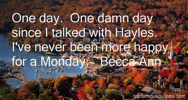 Becca Ann Quotes