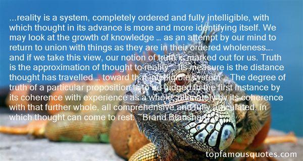 Brand Blanshard Quotes