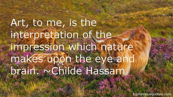 Childe Hassam Quotes