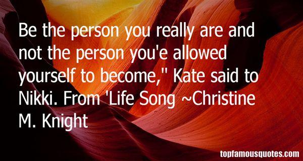 Christine M. Knight Quotes