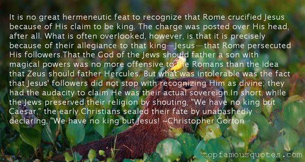 Christopher Gorton Quotes