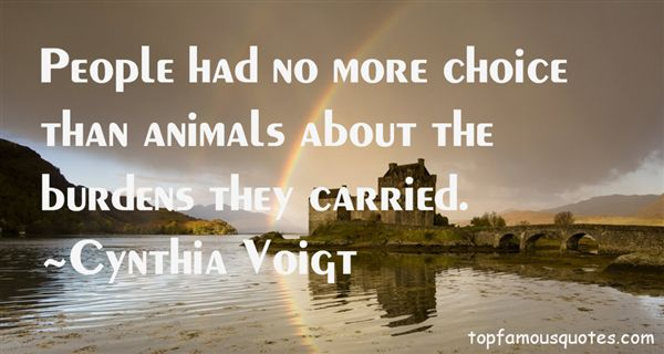 Cynthia Voigt Quotes