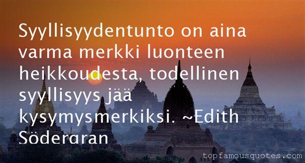 Edith Södergran Quotes