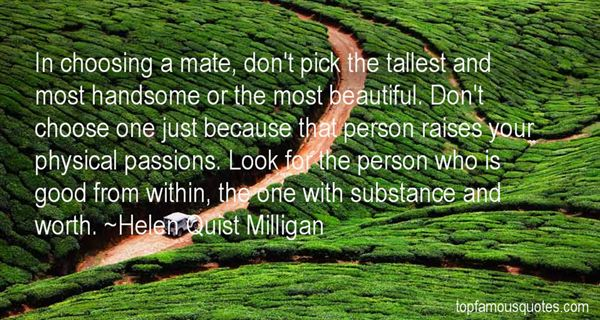 Helen Quist Milligan Quotes