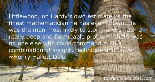 Henry Hallett Dale Quotes